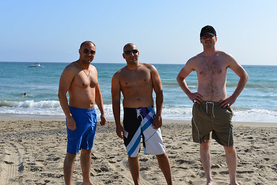 3 of us in Malibu Beach standing
