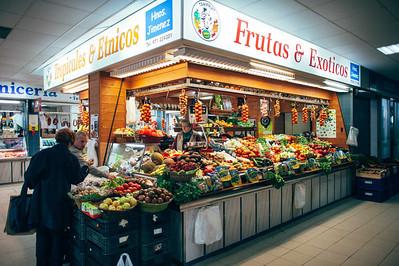 Produce Stand at the Ramblas Market