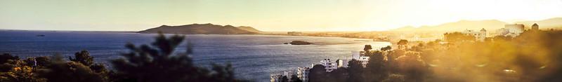 Panoramic Views of Ibiza Town