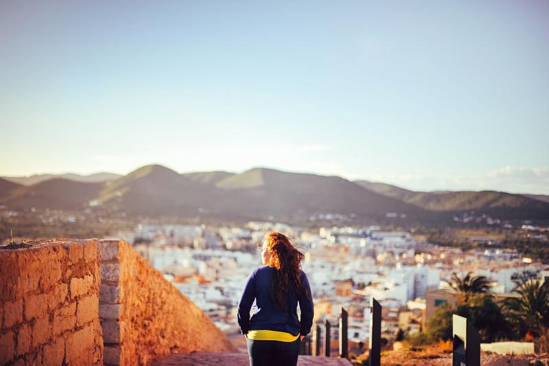 Overlooking Ibiza Town