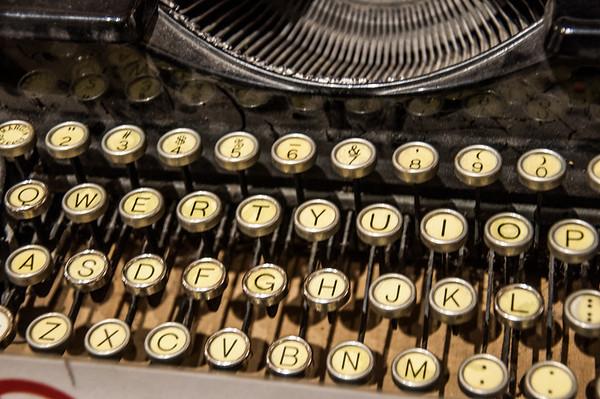 Old QWERTY typewriter