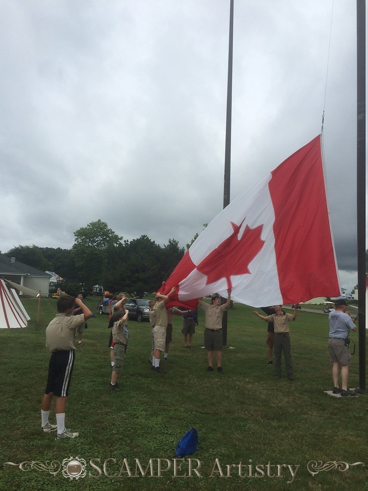 Raising the flags at Put-In-Bay, Sept. 2014