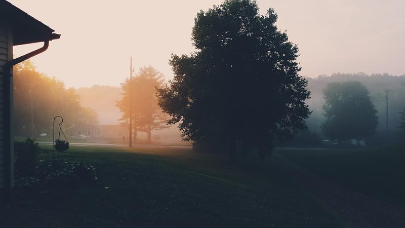 Last Ohio sunrise before hitting the road.
