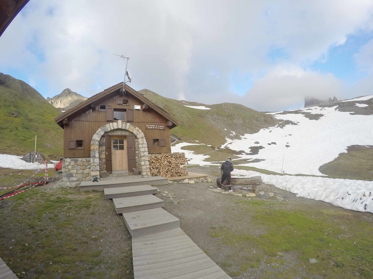 The hut that we ran into for the night; the Refuge du Col du Palet. It was AMAZING- so much fun and just the welcome we wanted!<br /> <br /> DCIM\100GOPRO\GOPR5895., hlbD_abc72522.jpg