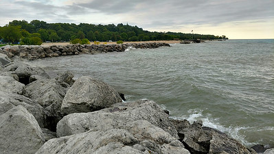 Water and rocks by Michigan Lake (2)