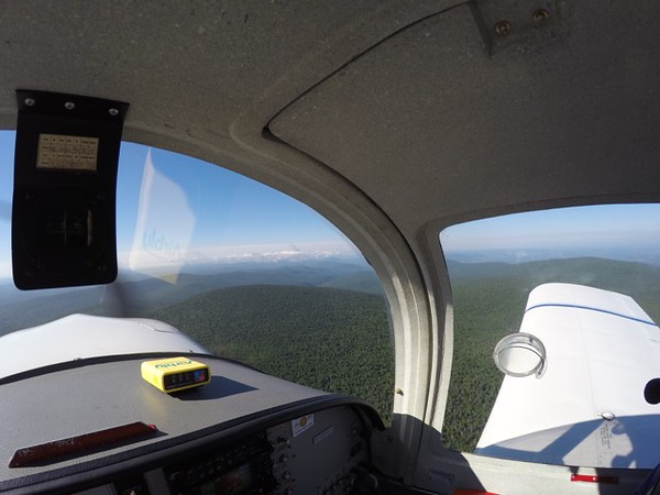 Flying over Glastonbury Mountain. Pretty cool to see just how remote it is.
