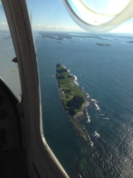 So with that went up for a celebratory flight the next day over Casco Bay with my first passenger! Thanks Jess!