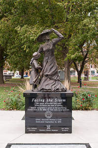 2016.10.19 - Macomb Women's Club honorary statue and named bricks