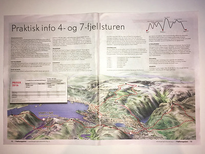 2016.05.27 - Bergen, Norway. 7 Hills Hike map.