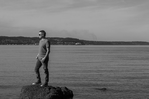 2016.02.23 - self portrait at Mukilteo beach