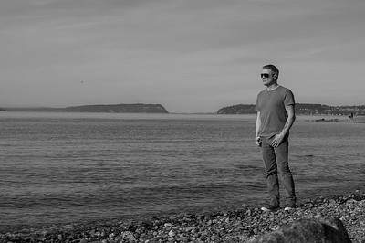2016.02.23 - self portrait at Mukilteo beach