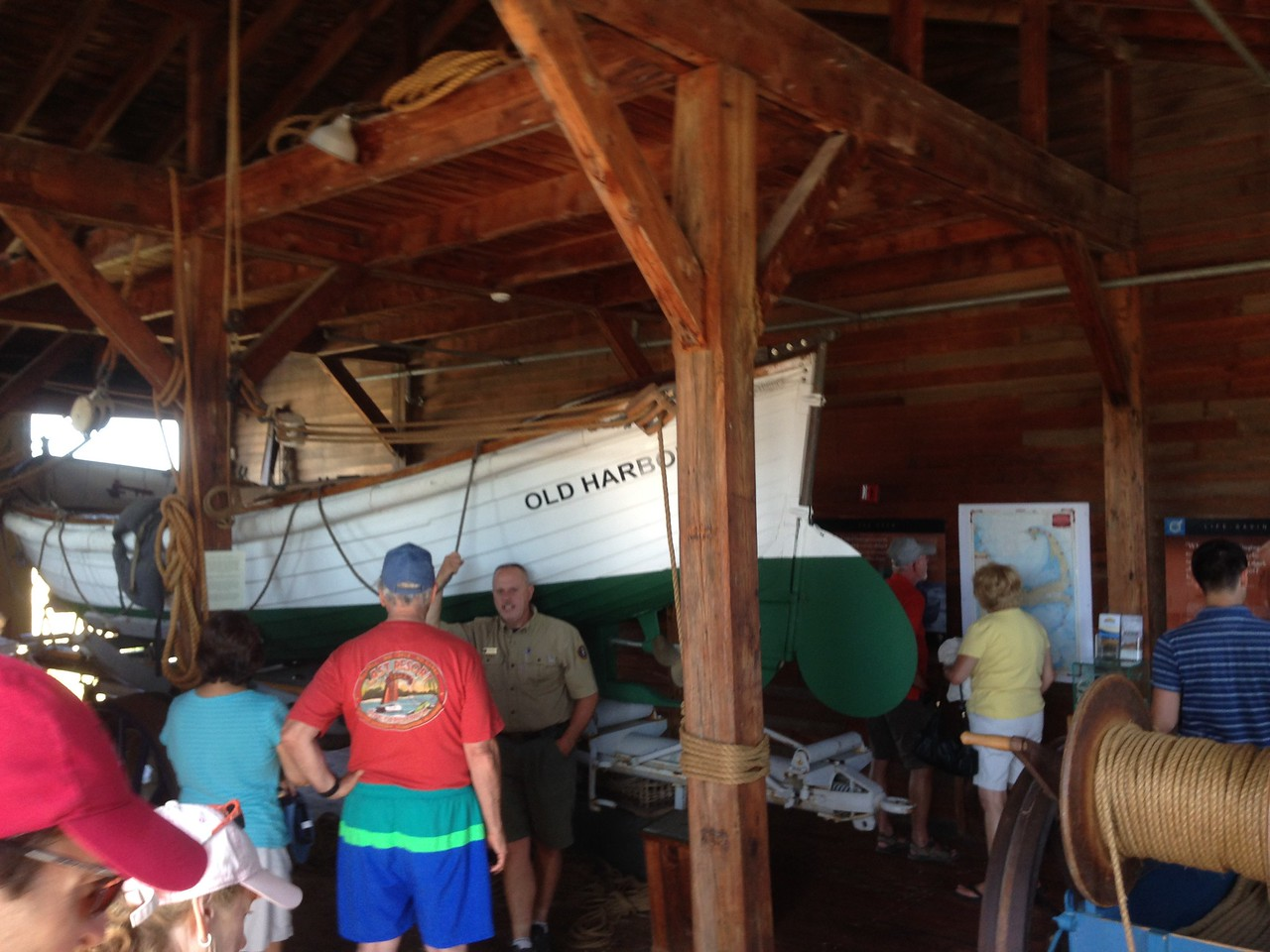 The station was open so we got to see all the boats and the newly renovated interior!