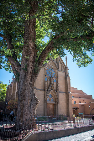 Loretto Church.  Shot in and near Santa Fe, NM on October 3, 2017 © John Schiller Photography