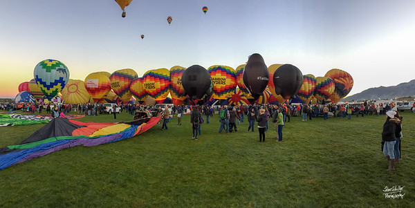 Albuquerque Balloon Fiesta.  Shot in Albuquerque, NM in October 2017. © John Schiller Photography