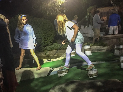 Let the mini golf competion begin...