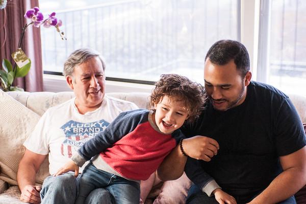 2017.03.26 - Lyonel, Uncle Rick, and Romain at Grandma Rita's house house