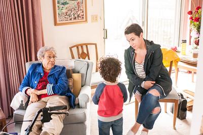 2017.03.26 - Grandma Rita, Lyonel, and Reine at Grandma Rita's house