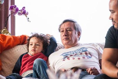 2017.03.26 - Lyonel, Uncle Rick, and Romain at Grandma Rita's house