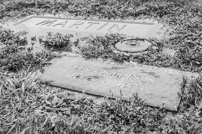 2017.03.31 - Forest Lawn Cemetery -Macomb, IL - Leta Justus Martin (10/25/1878 to 2/8/1973) - paternal great-grandmother - Lotus Martin Hilton Webb's mother