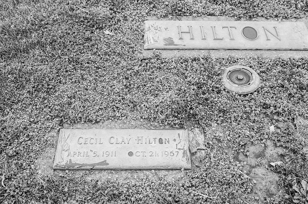 "2017.03.31 - Forest Lawn Cemetery - Macomb, IL - Cecil Clay ""Tom"" Hilton (4/5/1911 - 10/21/1967) - paternal grandfather married to Lotus Martin Hilton"