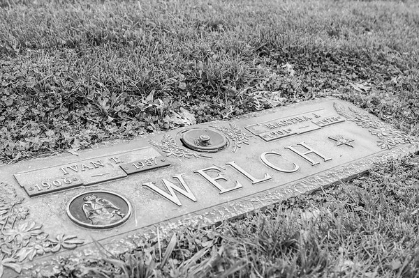 2017.03.31 - Forest Lawn Cemetery - Macomb, IL - Ivan (6/2/1906 - 4/2/1987) and Martha (2/21/1901 - 11/18/1978) Welch - maternal grandparents - Carol Welch Hilton's parents