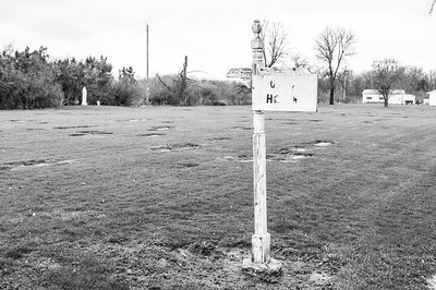 2017.03.31 - Forest Lawn Cemetery - Macomb, IL - Hilton and Martin grave sites are in the distance behind the sign from this vantage