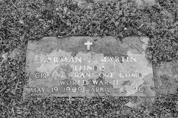 2017.03.31 - Forest Lawn Cemetery - Macomb, IL - Kerman Martin (5/19/1909 - 4/30/1963) - paternal great-uncle - Lotus Martin's uncle - Charlie Martin's brother
