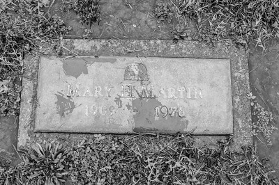 2017.03.31 - Forest Lawn Cemetery Macomb, IL - Mary E. Martin (1909 - 1976) - paternal great-aunt - Lotus Martin's aunt - Charlie Martin's sister-in-law - married to Kerman