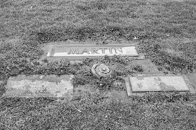2017.03.31 - Forest Lawn Cemetery - Macomb, IL - Kerman (5/19/1909 - 4/30/1963) & Mary E. (1909 - 1976) Martin - paternal great-uncle & great-aunt - Lotus Martin Hilton Webb's uncle & aunt - Charlie Martin's brother & sister-in-law