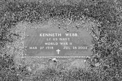 2017.03.31 - Forest Lawn Cemetery - Macomb, IL - Kenneth Webb (3/27/1918 - 7/28/2002) - paternal step-grandfather married to Lotus Martin Hilton Webb