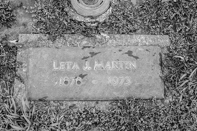 2017.03.31 - Forest Lawn Cemetery - Macomb, IL - Leta Justus Martin (10/25/1878 to 2/8/1973) - paternal great-grandmother - Lotus Martin Hilton Webb's mother