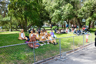 Costume groups resting in GGP