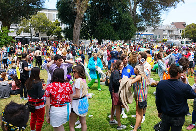 Crowds in park