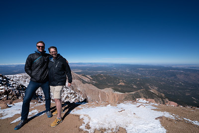 The top of Pikes Peak