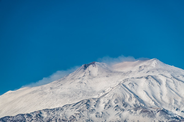 Mt. Etna, from our hotel window