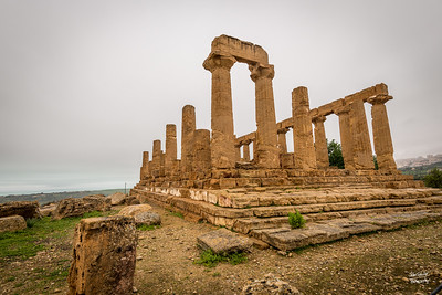 This temple is similar in size to the Temple of Concordia - further down the road.