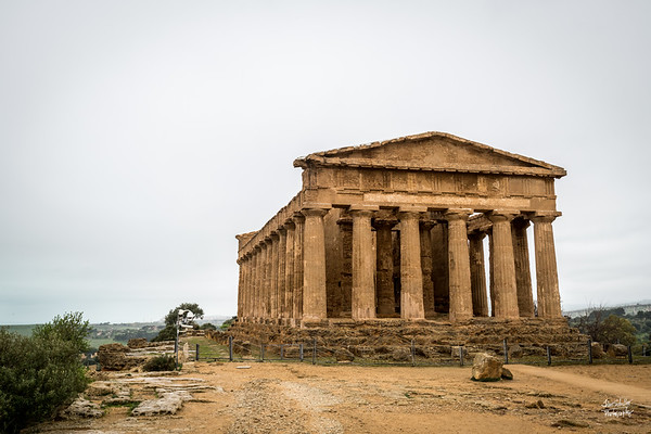 At its highest point the Temple of Concordia is almost 17 metres. Each of the 78 columns measures 6 metres and is decorated with flutes or ridges.