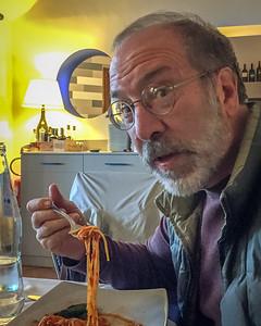 Ahhh finally - spaghetti and red sauce - at Trattoria dei Templi
