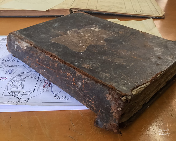 This book housed records from the 1700's