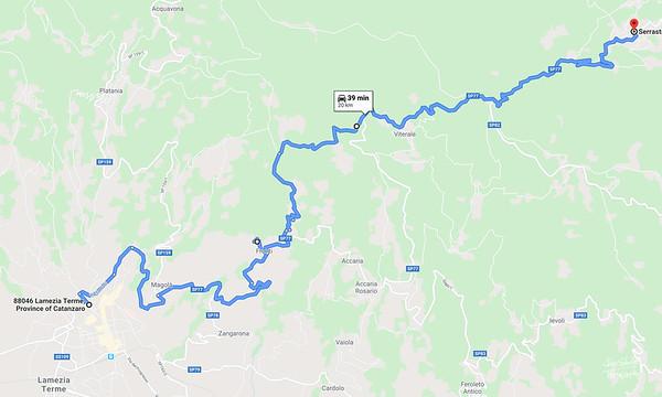 Map 16 - Nicastro - Serrastretta - I took this