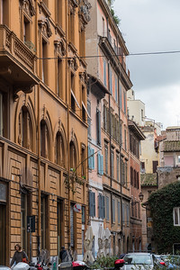 Via della Madonna dei Monti near the oldest house in Rome - just ahead