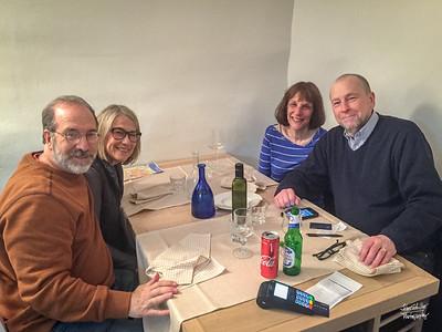 Enjoying dinner at Osteria Monacelle
