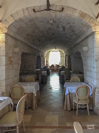 Breakfast room of the Hotel Relais Sant'Eligio.