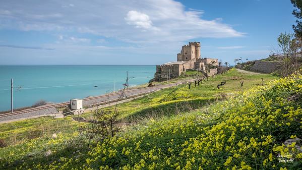 Castello Ferericiano, on the Ionian Sea in Roseto Capo Speluco.