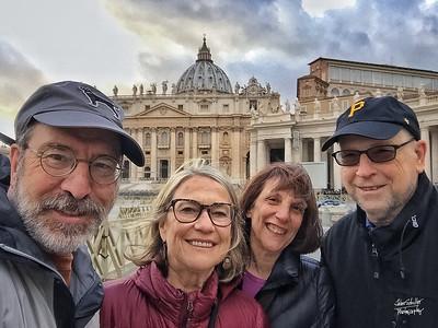 Selfie in front of St. Peter's Basilica