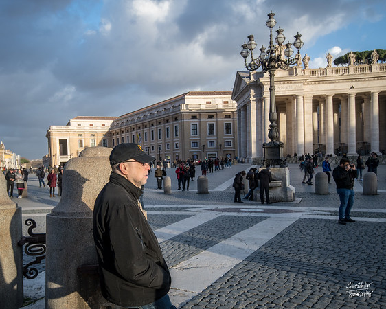 Absorbing the moment in St. Peter's Plaza