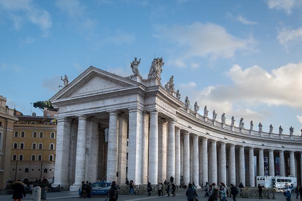 Along St. Peter's Basilica