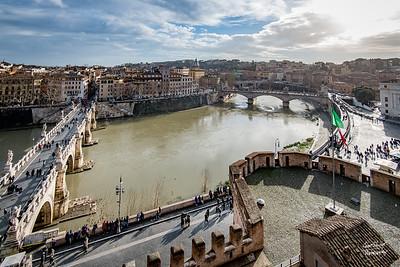 Tiber River from Castel Sant'Angelo