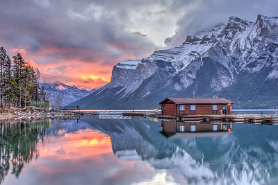 Boathouse at Lake Minnewanka