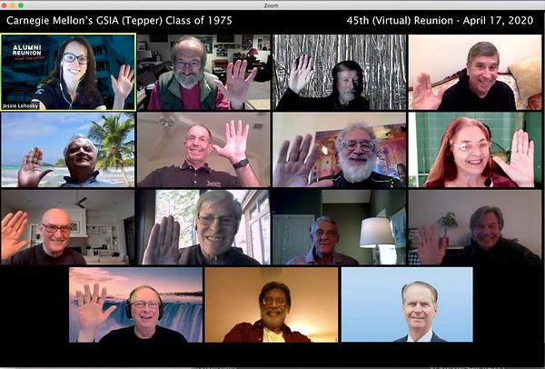 GSIA-Tepper Class of 1975 Reunion Photo